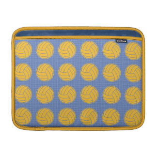 Yellow balls on blue background MacBook air sleeves