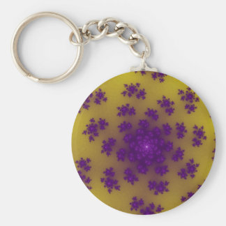 Yellow Banana Floral Sprinkles Keychain