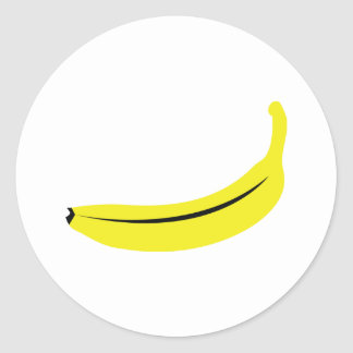 yellow banana fruit classic round sticker