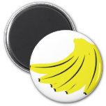 yellow bananas fruits magnet