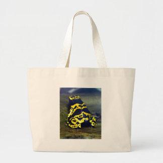 Yellow-banded Poison Frog - Dendrobates Leucomelas Jumbo Tote Bag