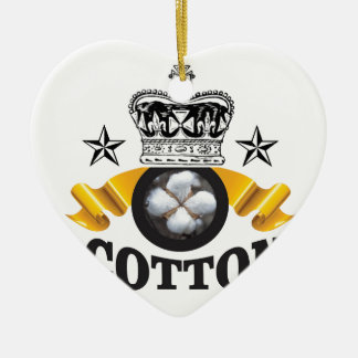yellow banner cotton is king ceramic ornament