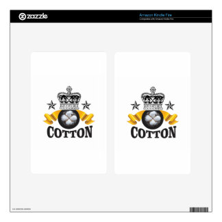 yellow banner cotton is king skins for kindle fire