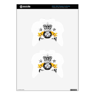 yellow banner cotton is king xbox 360 controller skins