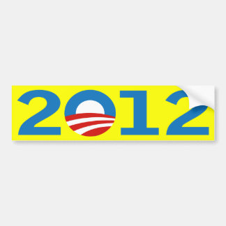 Yellow Barack Obama 2012 bumper sticker Car Bumper Sticker