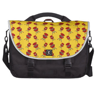 yellow barbeque pattern laptop computer bag