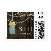 yellow Barnwood mason jar personalized stamps