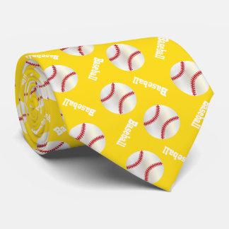 Yellow Baseball Fun Tie