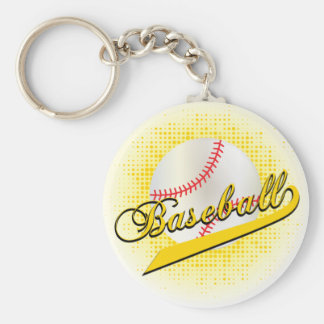 Yellow Baseball Keychain