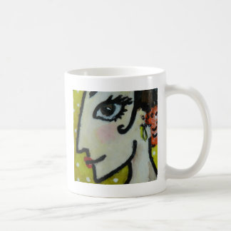 Yellow basic Flameca and white small points Coffee Mug