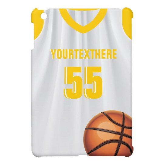 Yellow  Basket Ball Dress Name Number iPad Case