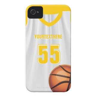 Yellow BasketBall Dress Name &  Number Case-Mate iPhone 4 Cases