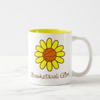Yellow Basketball Girl Mugs