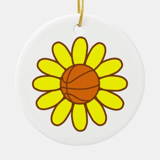 Yellow Basketball Girl Christmas Ornaments