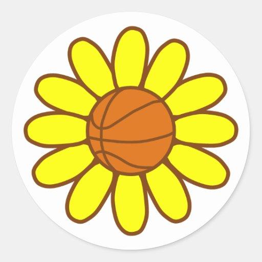 Yellow Basketball Girl Stickers