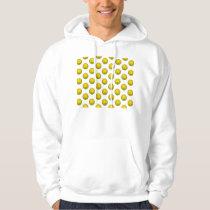 Yellow Basketball Pattern Hoodie