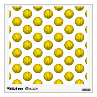 Yellow Basketball Pattern Wall Sticker