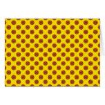 Yellow Basketball Polka Dots Card