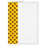 Yellow Basketball Polka Dots Greeting Cards