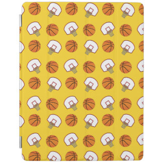 Yellow basketballs and nets iPad cover