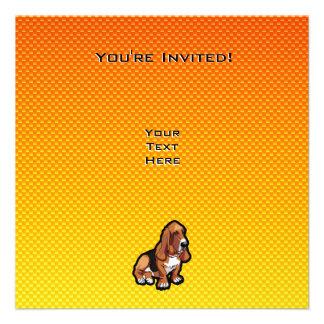 Yellow Basset Hound Custom Announcements