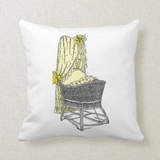Yellow Bassinet Baby Pillow