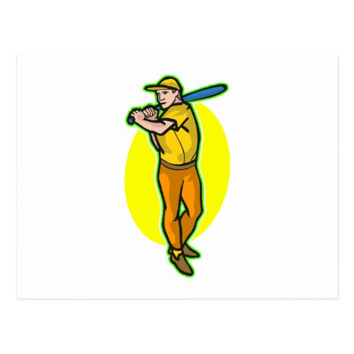 yellow batter postcard
