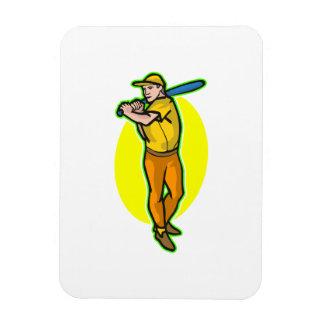 yellow batter rectangular photo magnet