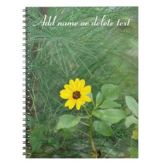 Yellow beach sunflower Notebook