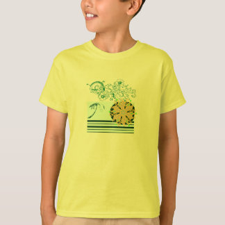 Yellow-beach-surf-Tee-for-kids T-Shirt