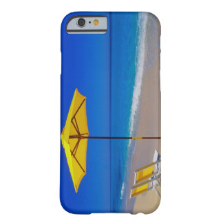 Yellow beach umbrella and chairs on pristine iPhone 6 case