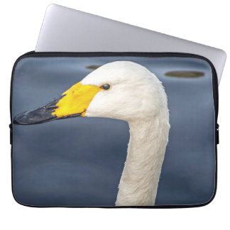 Yellow beaked swan laptop sleeve