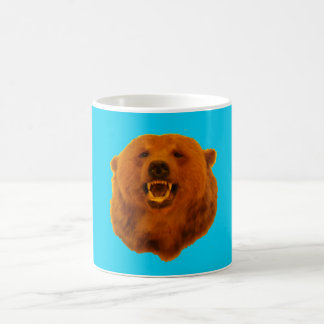 Yellow Bear - 0n Blue Coffee Mug
