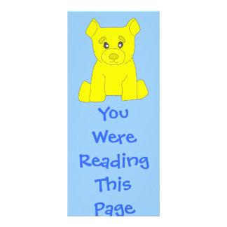 Yellow Bear Bookmark Template Rack Card