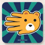 Hand shaped Yellow Bear Coaster