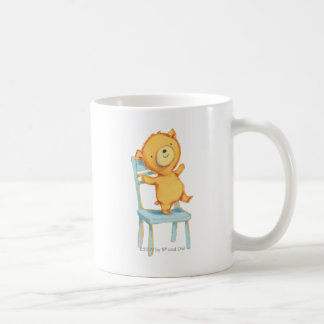 Yellow Bear Dances and Plays on Chair Coffee Mug