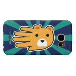 Hand shaped Yellow Bear Samsung Galaxy S6 Case