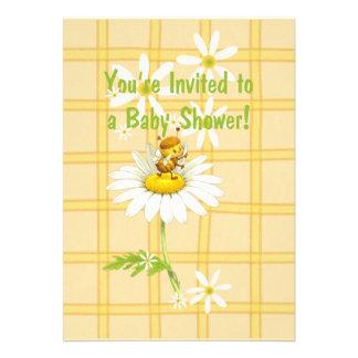 Yellow Bee Baby Shower Invitation