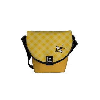 Yellow Bee Mini Messenger Bag