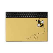 Yellow Bee School Office Post It Notes Gift