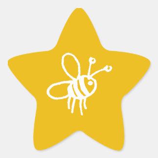 Yellow Bee_sticker star_1 Star Sticker