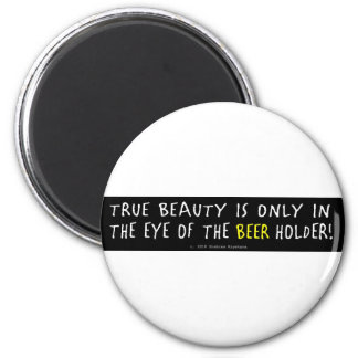 YELLOW BEER 2 INCH ROUND MAGNET