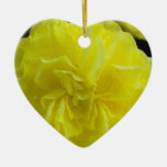 yellow begonia flower christmas tree ornament