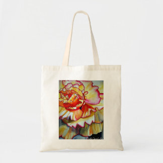 Yellow Begonia flower watercolour original art Tote Bag