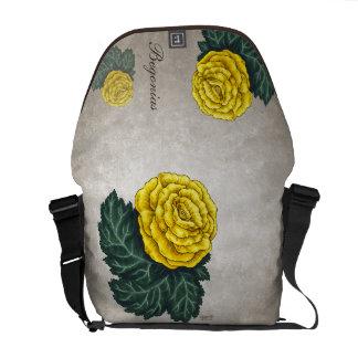 Yellow Begonias Customizable Messenger Bag