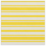 [ Thumbnail: Yellow & Beige Colored Lines Pattern Fabric ]