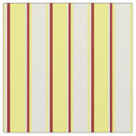 [ Thumbnail: Yellow, Beige & Dark Red Colored Pattern Fabric ]