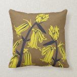 Yellow bell Blossom Decor#12b Modern Throw Pillow