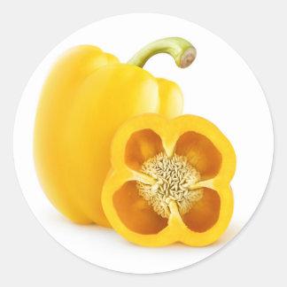 Yellow bell pepper classic round sticker