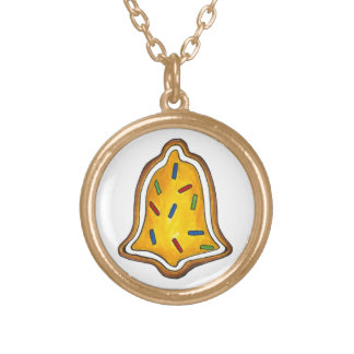 Yellow Bell Sugar Cookie Christmas Necklace